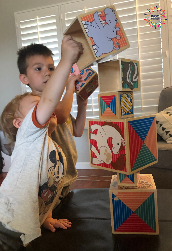 A blog about the developmental benefits of playing with nesting blocks