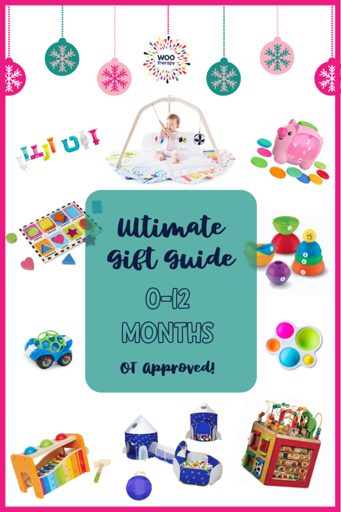 Ultimate Gift Guide for Babies with toys and activities curated by an Occupational Therapist with fun and development in mind.