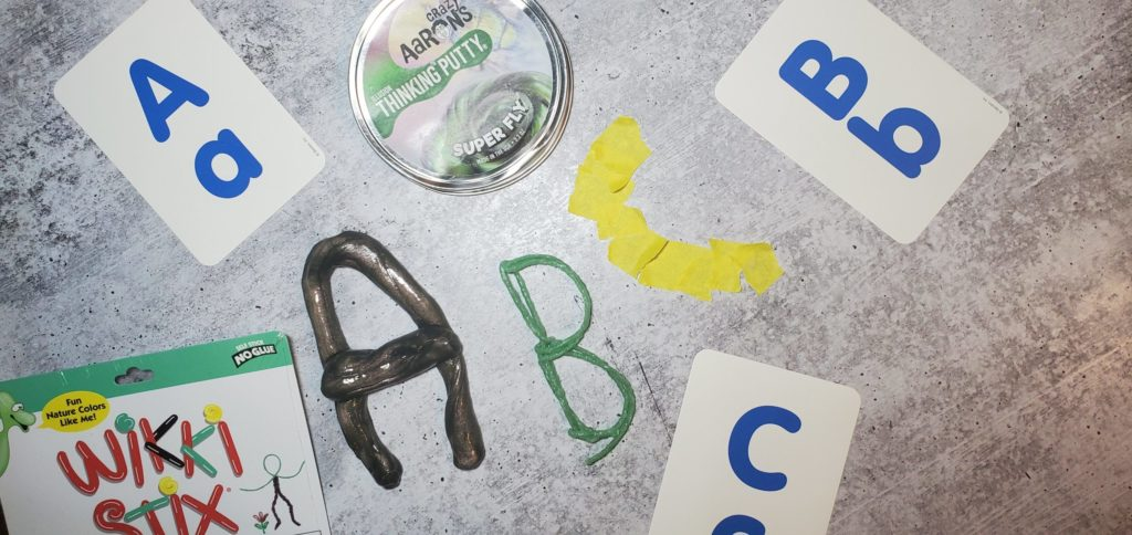 OT Outside the box uses a variety of mediums to address letter formation.