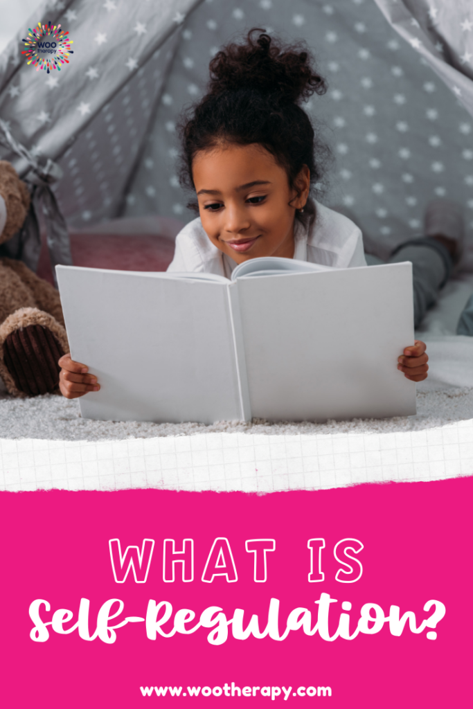What is Self-Regulation? Reading a favorite book in a small, confined tent can have a calming effect on a child.