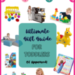 Ultimate Gift Guide for Toddlers with toys and activities curated by an Occupational Therapist with development in mind.