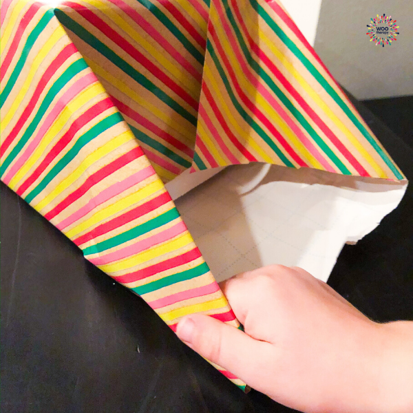 Fine Motor skills required to crease the paper while folding corners.
