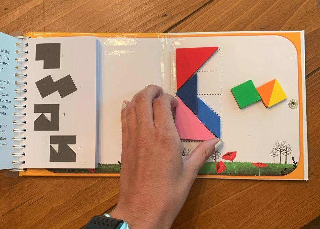 OT for Me.box uses magnetic tangrams to target fine motor and visual perceptual skills.