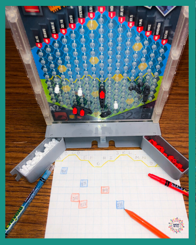 Battleship can be adapted many ways to incorporate handwriting.
