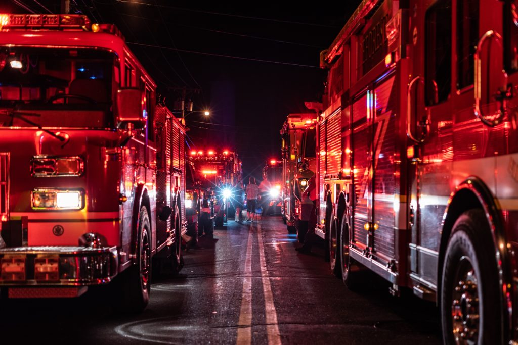 Lots of lights and sirens can be highly disruptive to a sensory system and one's ability to self-regulate.