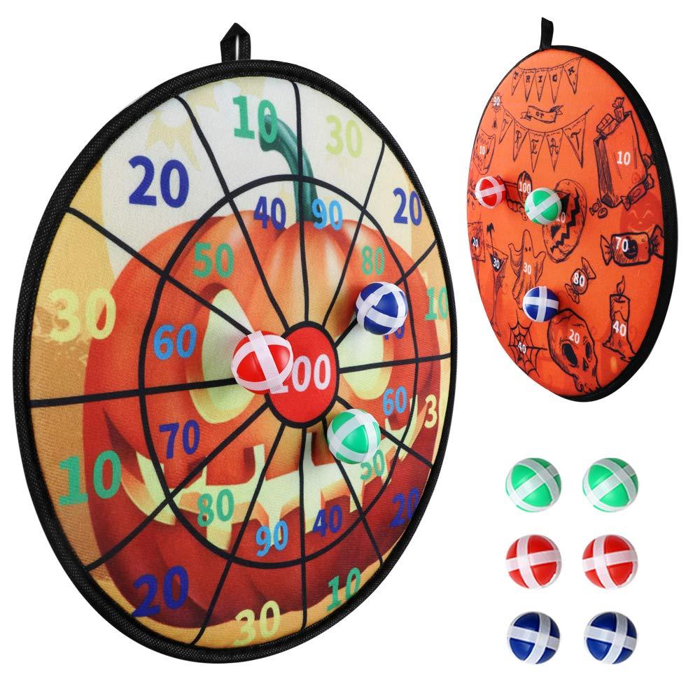 Halloween-themed velcro dartboard