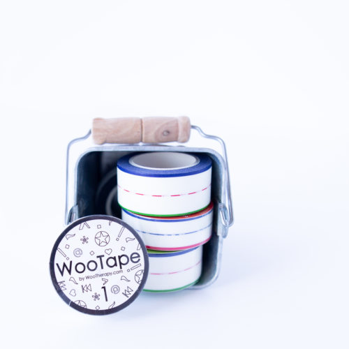 WooTape 1 showcased with other styles of WooTape, front image